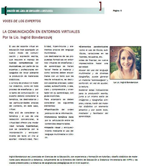 La comunicación en entornos virtuales | educare - exducere - tekné | Scoop.it
