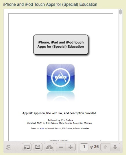 Speech-Language Pathology Sharing: iPhone and iPod touch Apps for (Special) Education | Apps | Scoop.it