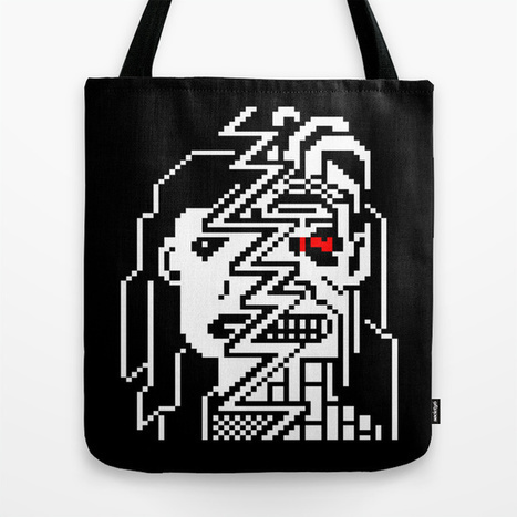Teletext Monster Girl Tote Bag by Raquel Meyers | ASCII Art | Scoop.it