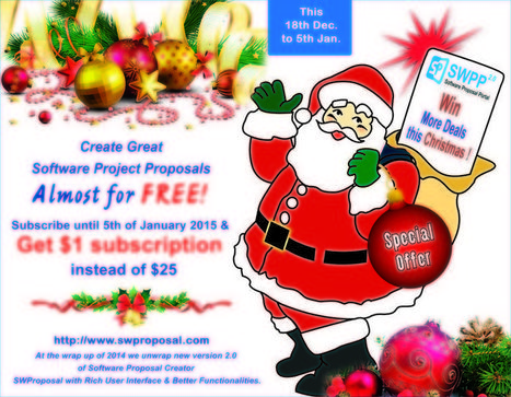 Special Christmas Offer by Software Proposal Creator - Swproposal | Software Proposal Portal | Scoop.it