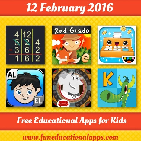 Best Free Friday Apps for kids and Education - February 12 - Fun Educational Apps for Kids   Daily Free Kids Apps   Scoop.it