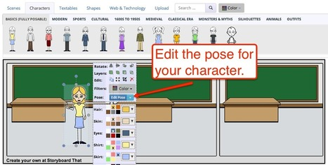 Free Technology for Teachers: Storyboard That Offers Posable Characters to Use in Your Cartoon Creations | My Tools for school | Scoop.it