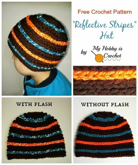 "My Hobby Is Crochet: ""Reflective Stripes"" Hat for Children and Adults - Free Crochet Pattern 