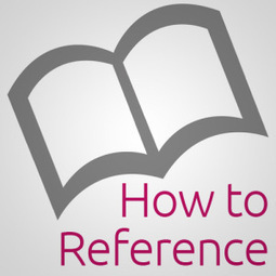 How to Reference | ColourMyLearning | Scoop.it