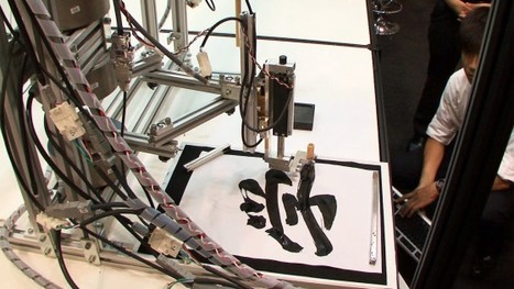 Calligraphy robot uses a Motion Copy System to reproduce detailed brushwork | Archivance - Miscellanées | Scoop.it