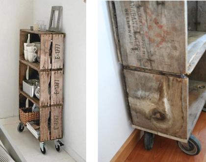 5 projets de caisses pommes recycl eac. Black Bedroom Furniture Sets. Home Design Ideas