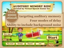 Auditory Memory Ride App | Speech and Language Therapy Apps | Scoop.it