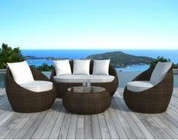 Salon de jardin en résine tressée ronde Takaroa - Le monde de Lea   Mobilier et décoration pour la maison   Scoop.it
