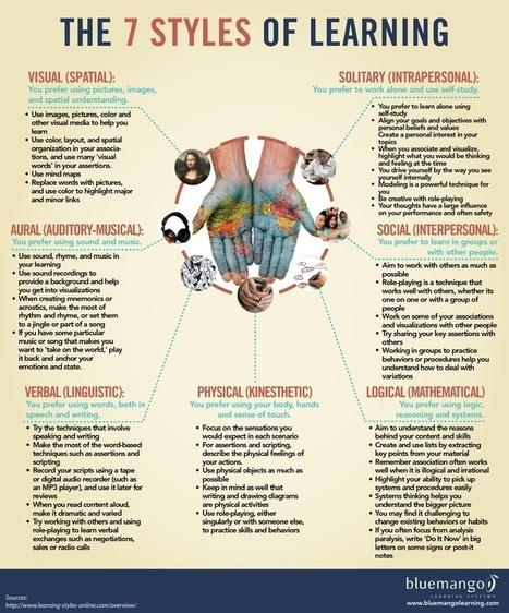 e-learning, conocimiento en red: #infografia #educacion 7 estilos aprendizaje. The 7 styles of learning | Rede Nacional de Teleodontologia | Scoop.it