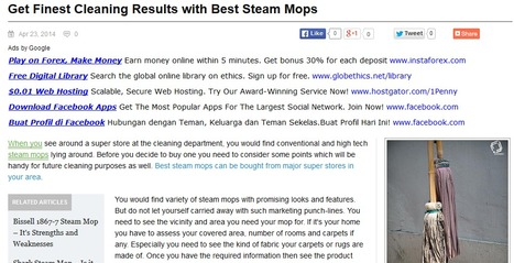 Get Finest Cleaning Results with Best Steam Mop   Steam Mops   Scoop.it