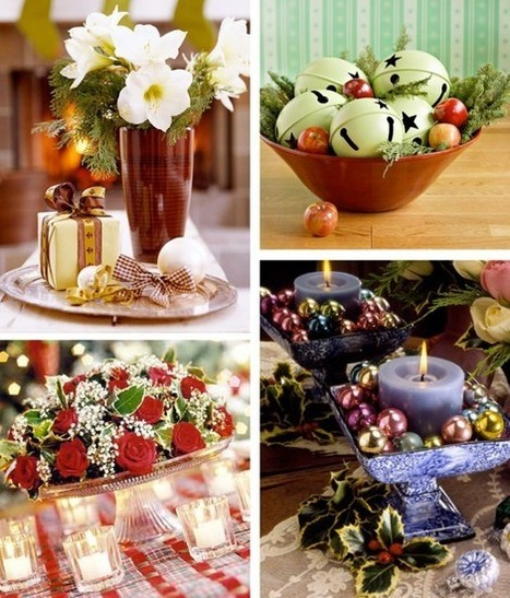 50 Great & Easy Christmas Centerpiece Ideas | Augusta Interiors - Global Inspirations | Scoop.it