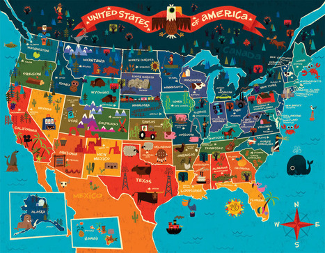 InfoGraphic Map Of USA | CEREGeo - Geomática | Scoop.it