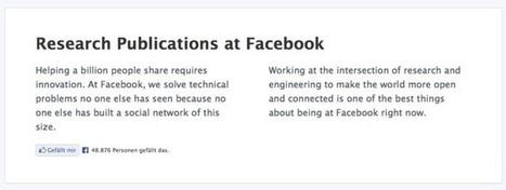 Geballtes Wissen: Facebook veröffentlicht Archiv wissenschaftlicher Arbeiten | Social Media & E-learning | Scoop.it