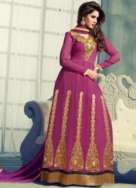 New Arrival Rani Pink Kali Work Anarkali Suit | Gifting Zone | Scoop.it
