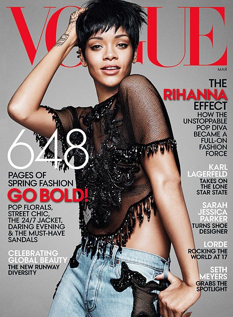 Rihanna on the cover of Vogue | Filmi Gossip | Scoop.it