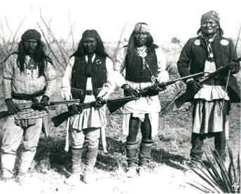 a history of the geronimo and the apache resistance This day in history: sep geronimo surrenders  geronimo and fellow apache indian prisoners on their way to florida by train this picture makes me sad.
