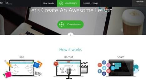 TheLearnia. Créer des leçons en vidéo à partir d'un Powerpoint – Les Outils Tice | Innovations pédagogiques numériques | Scoop.it