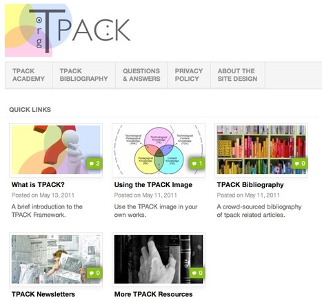 TPACK - Framework, Resources and more | Designing for learning | Scoop.it
