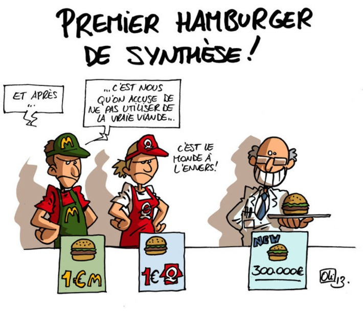 Le premier hamburger cultivé avec des cellules souches ! | Baie d'humour | Scoop.it