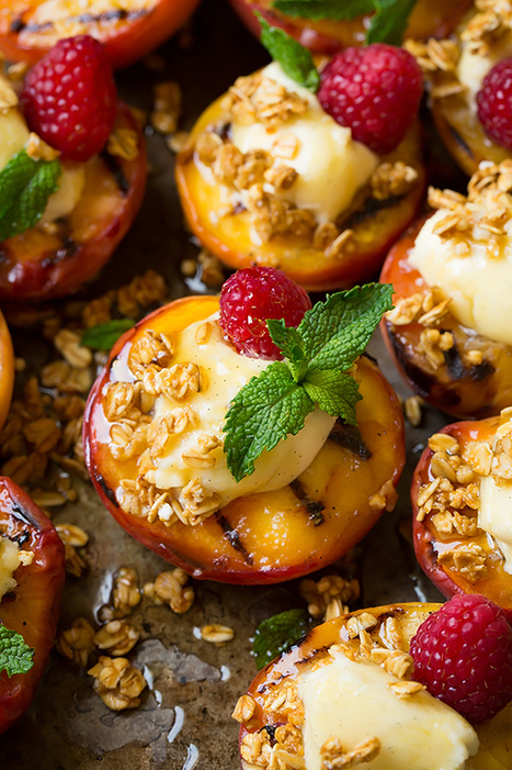 Grilled Peaches with Vanilla Bean Mascarpone, Honey and Granola - Cooking Classy | Passion for Cooking | Scoop.it