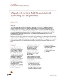 US publishes first FATCA competent authority arrangements   FATCA   Scoop.it