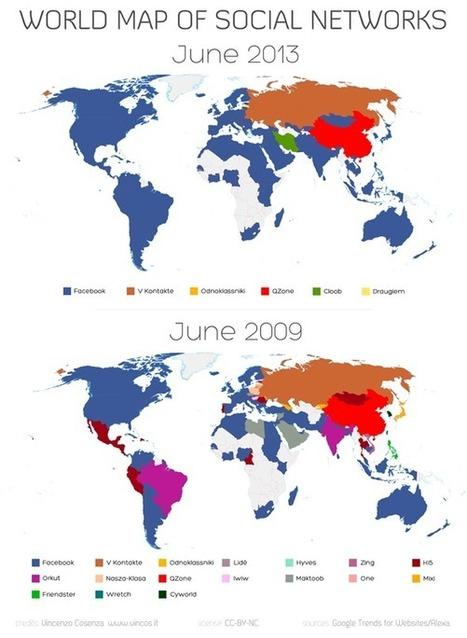La mappa dei social network nel mondo – giugno 2013 | Vincos Blog | Charliban Worldwide | Scoop.it