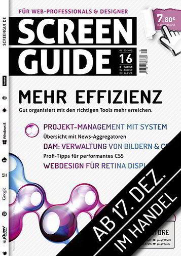 SCREENGUIDE Ausgabe 16 | Webstandards | Scoop.it