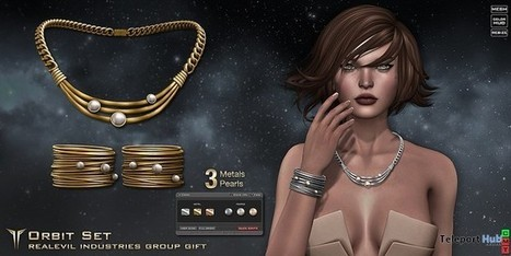 Orbit Jewelry Set Group Gift by RealEvil Industries | Teleport Hub - Second Life Freebies | Second Life Freebies | Scoop.it