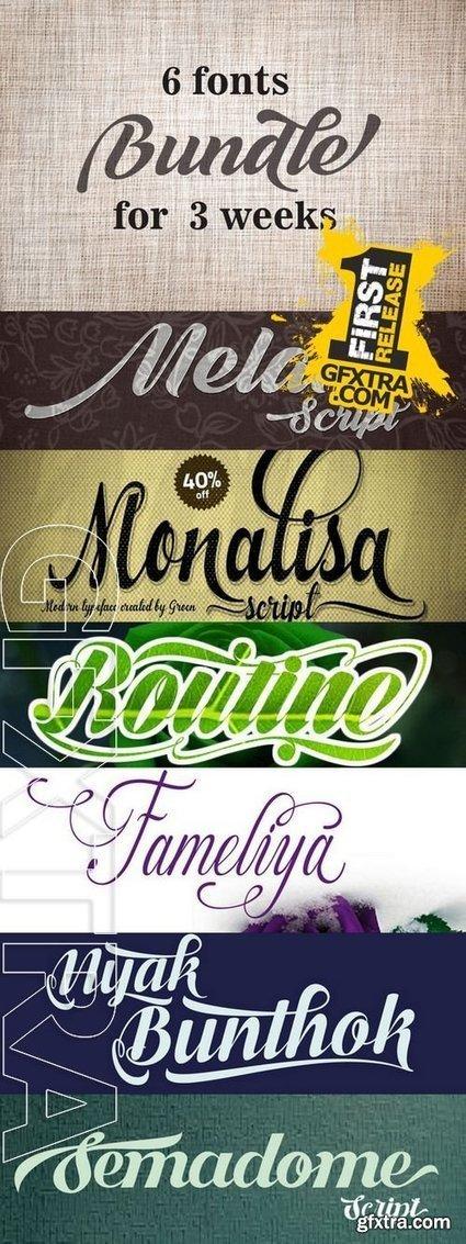 Creativemarket Bundle Fonts 166804 | DesignFeed | Scoop.it