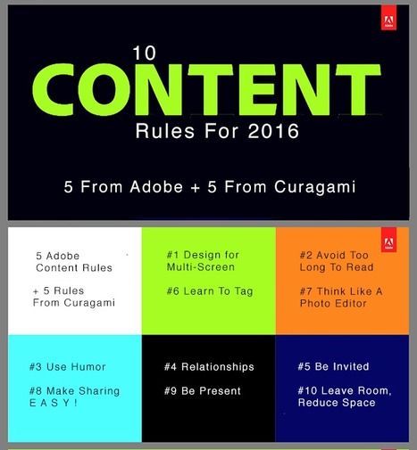 10 Rules for Content Marketers in 2016 - 5 From Adobe 5 From Curagami | digital marketing strategy | Scoop.it