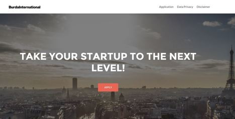 Take Your Startup To The Next Level! | Burda International Startup Competition | entrepreneurship - collective creativity | Scoop.it