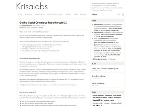 Getting Social Commerce Right through UX – Krisalabs | info and interface | Scoop.it