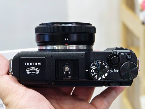 富士FUJINON XF 27mm F2.8镜头实物-最便携X系列新品 富士X-M1单电真机图赏套图-第13张 | Fuji X-M1 | Scoop.it