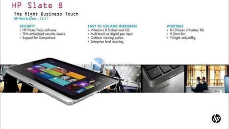 HP Slate 8 será um tablet com Windows 8 para profissionais?   TecnoCompInfo   Scoop.it