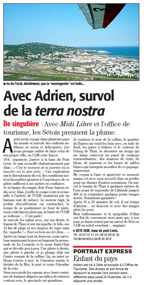 Survol de Sète en ULM...magique ! | Sète Tourisme : les ambassadeurs-reporters sur le terrain | Scoop.it