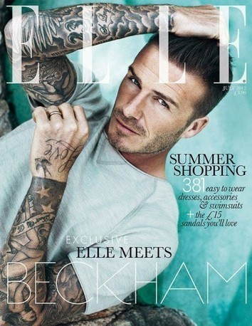 David Beckham On The Cover Of Elle UK July 2012 | Highsnobette.com | Celebrity Club | Scoop.it