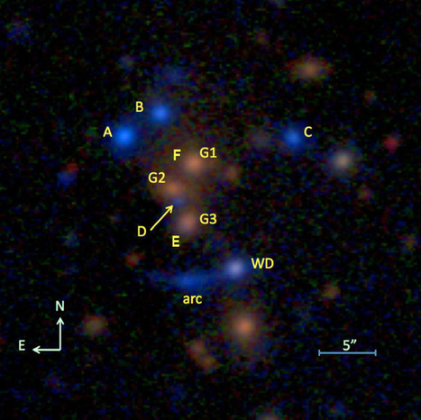 Astronomers Discover First Ever Six-Image Lensed Quasar   Astronomy   Sci-News.com   Astronomy   Scoop.it