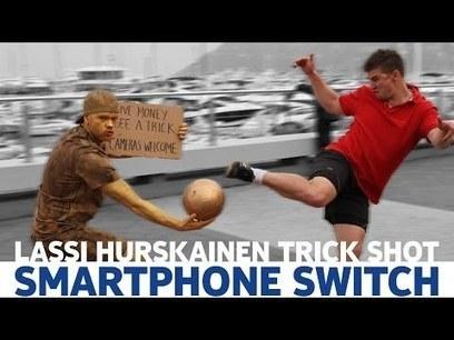 Lassi Hurskainen Football Trick Shot - Smartphone Switch - Nokia Lumia 630 | supreme moments | Scoop.it