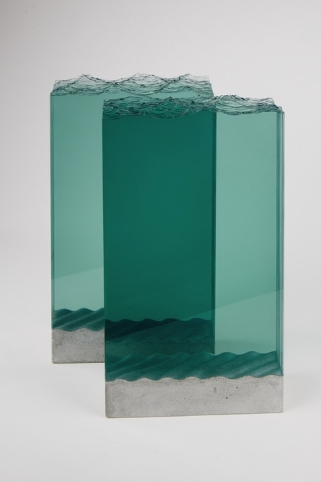 Amazing sheets of glass cut into stunning layered ocean scenes   Creative Boom   Nartique Art Glass News   Scoop.it