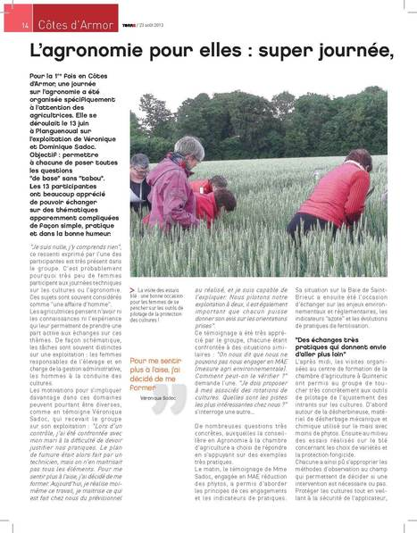 Agricultrices : Formation agronomie pour elles   agricultrices   Scoop.it