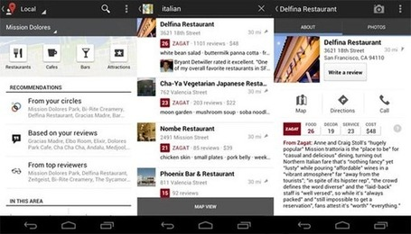 Google Maps - Nouvelle version avec intégration de Zagat | Android-France | Le Grenier de GM | Scoop.it