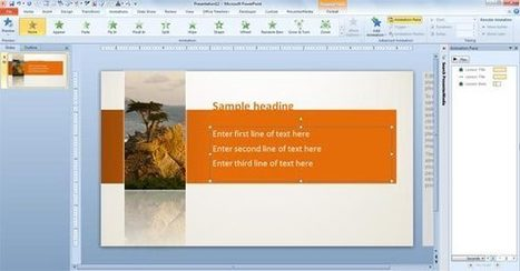 How to Animate Text in the PowerPoint Templates | PowerPoint Presentation | Social Media and Network Analysis | Scoop.it