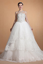 [EUR 199,99] Carlyna 2014 Nouveauté Sans Bretelle Trois Couches Perles Robe de Mariée (C37143707) | robe de mariée, robe de soirée | Scoop.it