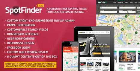 SpotFinder 1.30 A Versatile WordPress Listings Theme [P] | Download Free Full Scripts | stuff | Scoop.it