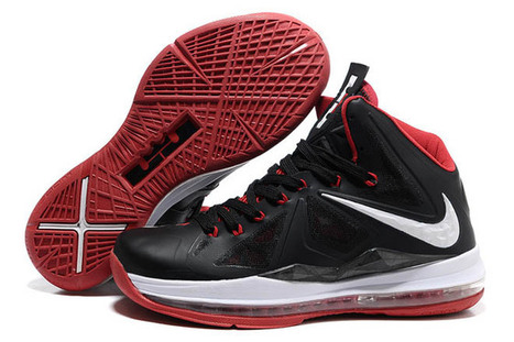 "Nike Lebron X 10 ""Countdown Pack"" Black/White & Red Men Size Shoes - Sale at Cheap Price $97.89 - lebron james 10 shoes mens 
