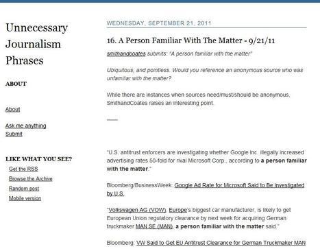 Unnecessary Journalism Phrases | Top sites for journalists | Scoop.it