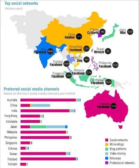 Réseaux sociaux : l'Asie empreinte de multiculturalisme - Etreintes ... | Pratiques digitales dans le monde | Scoop.it