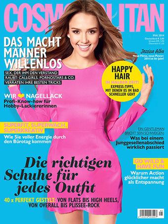 Jessica Alba covers Cosmopolitan Magazine May 2014 | Magazines Cover Girl | Scoop.it