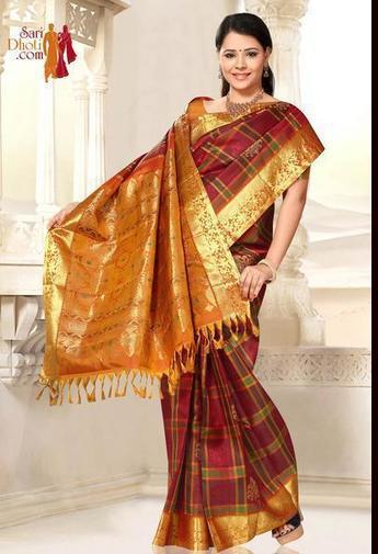 Kanchipuram Sarees and Dhoti | Sari Dhoti and Designer Shawl for Women | Scoop.it