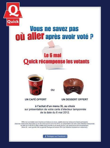 Quick récompense les Votants aux Elections Présidentielles ! | Actualité de l'Industrie Agroalimentaire | agro-media.fr | Scoop.it